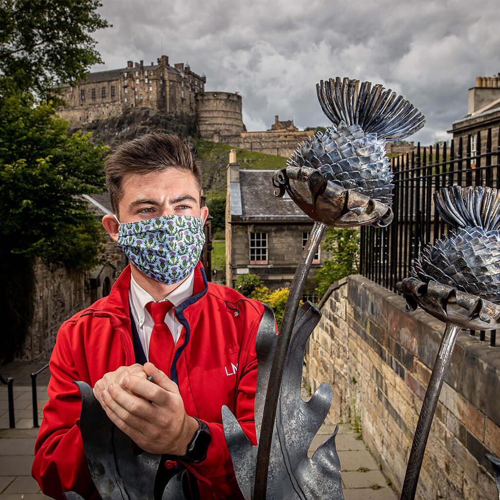 Face Mask - LNER Edinburgh Design 2