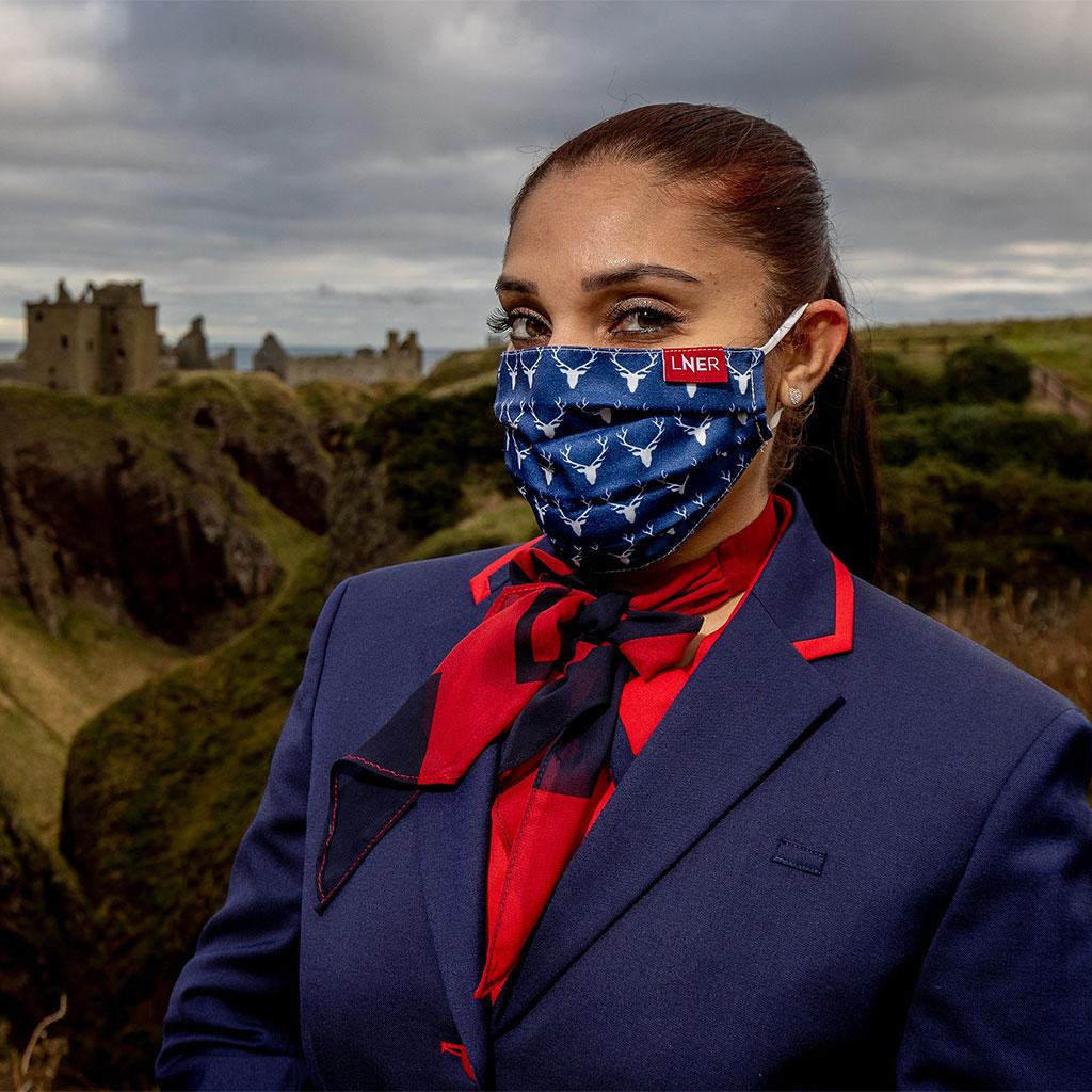 Face Mask - LNER Scotland Stag Design 1