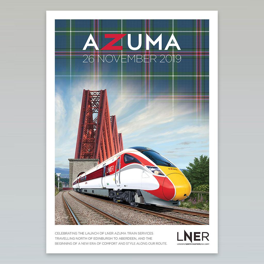 LNER Azuma Launch Poster – Aberdeen launch, 26 November 2019 0