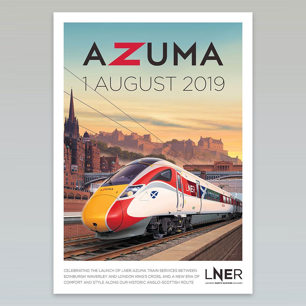 LNER Azuma Launch Poster – Edinburgh Waverley launch, 1 August 2019