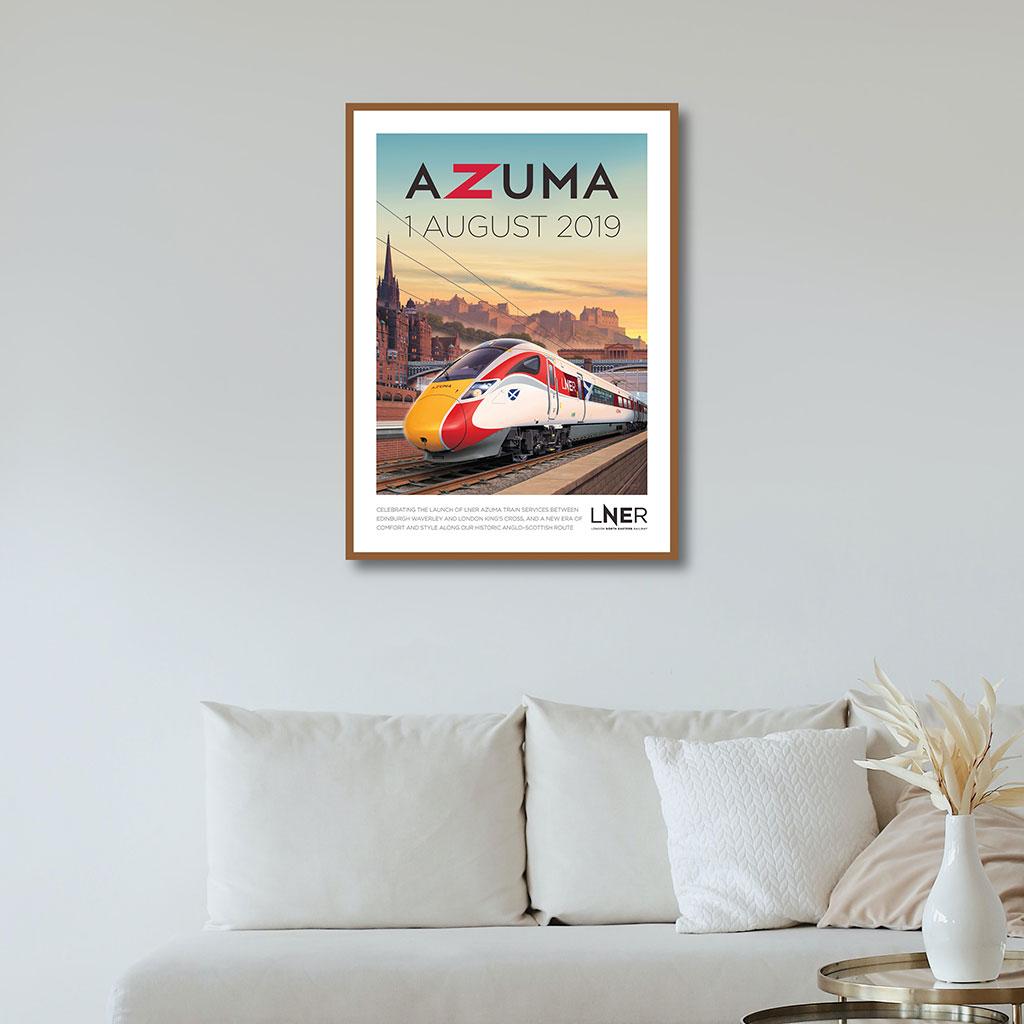 LNER Azuma Launch Poster – Edinburgh Waverley launch, 1 August 2019 1