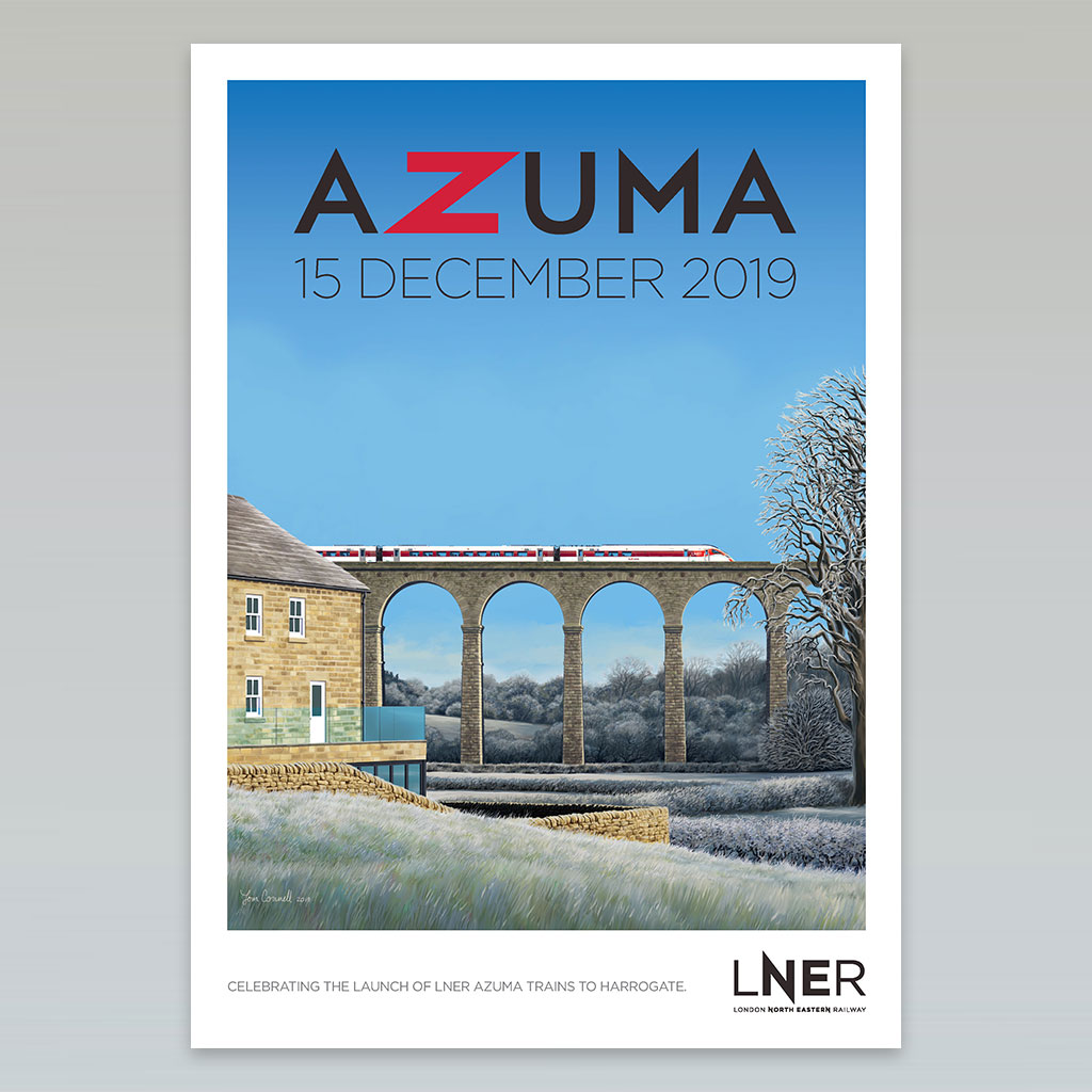 LNER Azuma Launch Poster – Harrogate launch, 15 December 2019 0