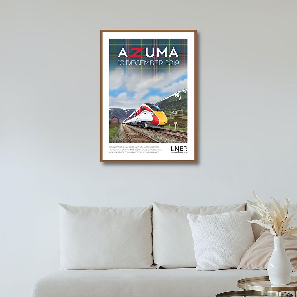 LNER Azuma Launch Poster – Inverness launch, 10 December 2019