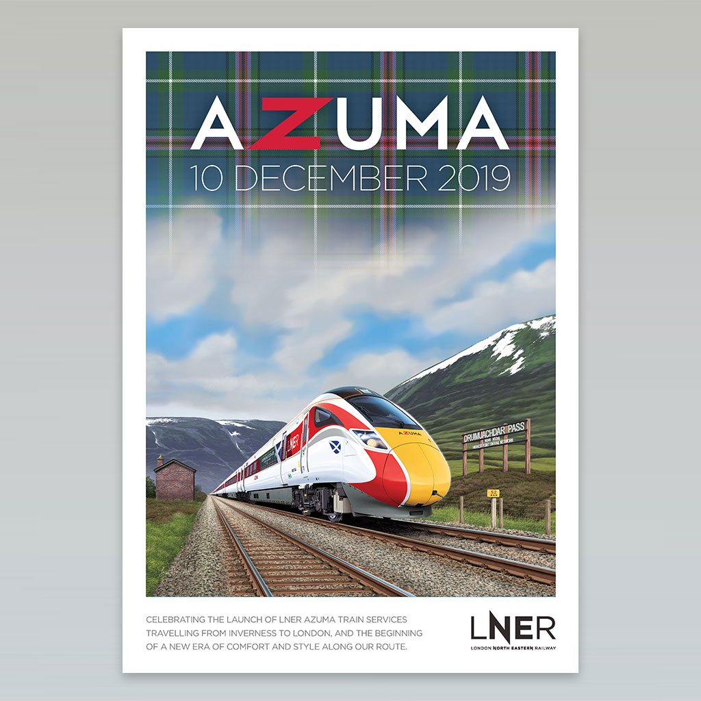LNER Azuma Launch Poster – Inverness launch, 10 December 2019 1