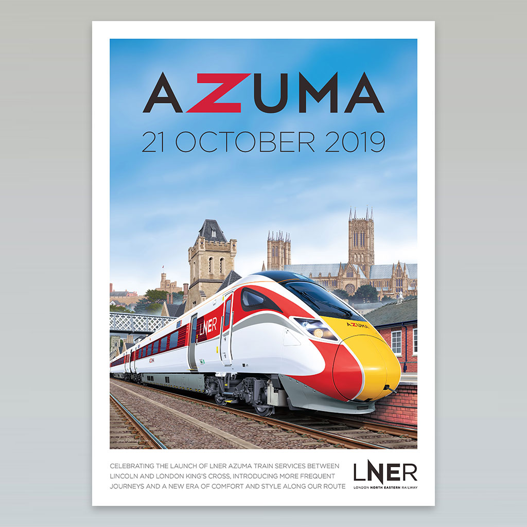 LNER Azuma Launch Poster – Lincoln launch, 21 October 2019