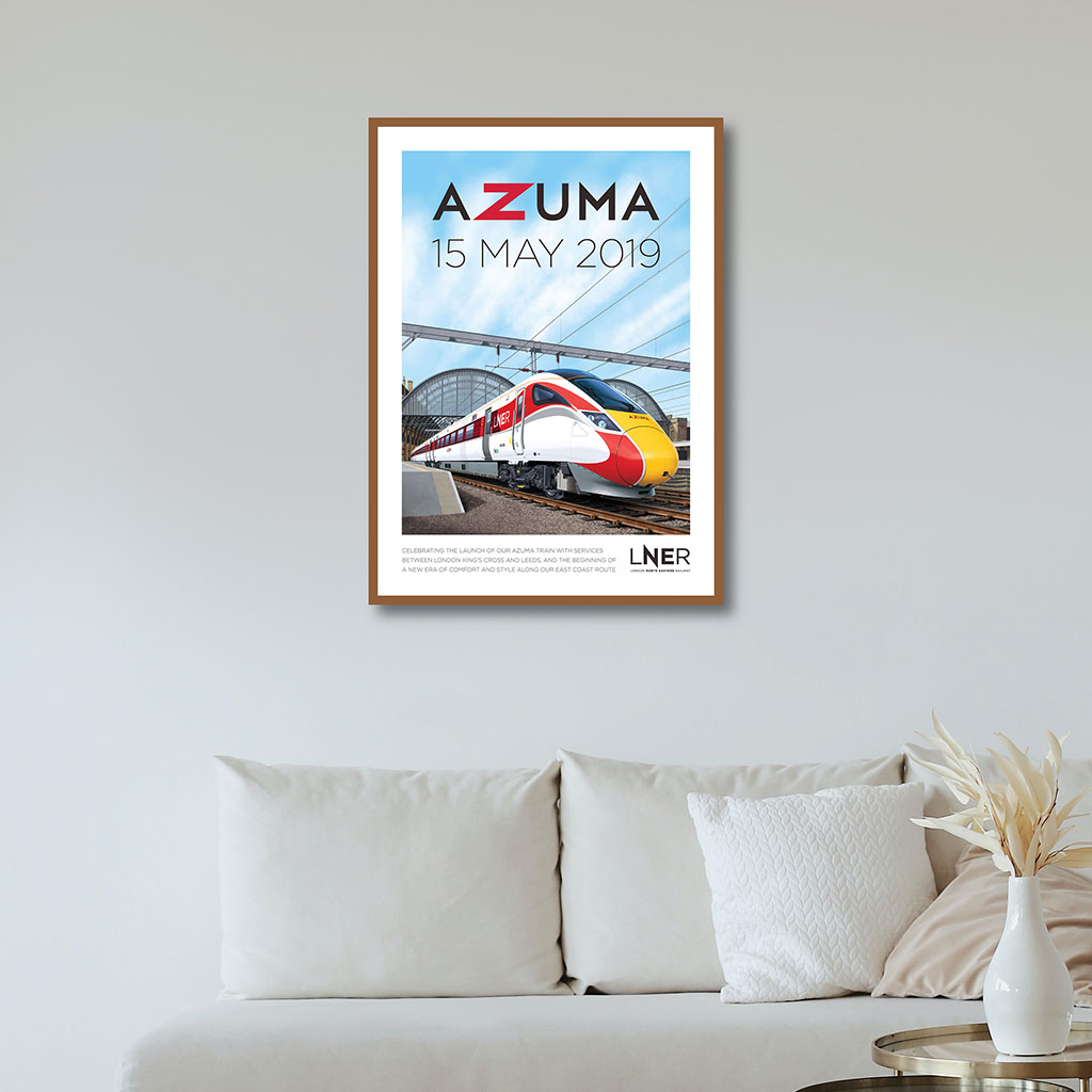 LNER Azuma Launch Poster – London King's Cross to Leeds first Azuma passenger service, 15 May 2019 1