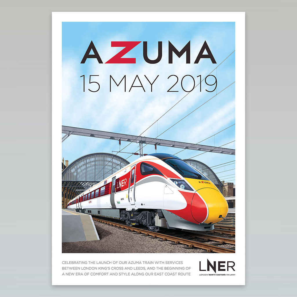 LNER Azuma Poster Full Collection 1