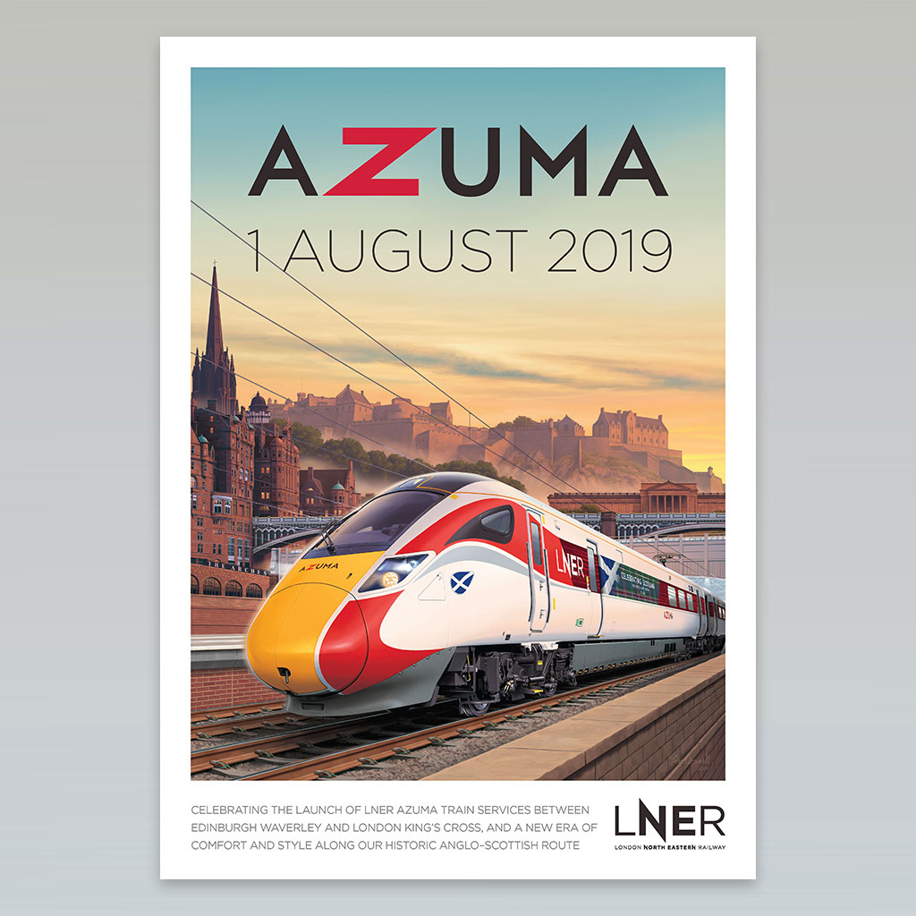 LNER Azuma Poster Full Collection 3