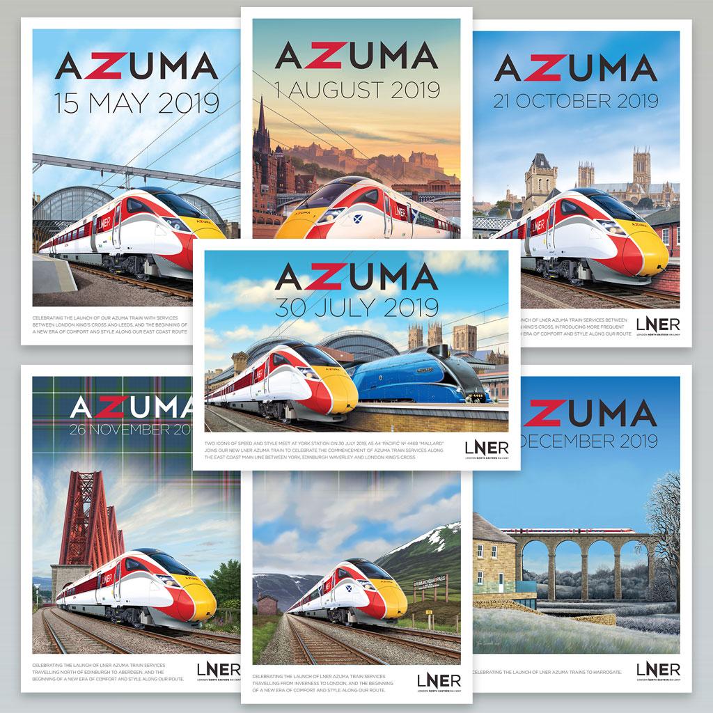 LNER Azuma Poster Full Collection