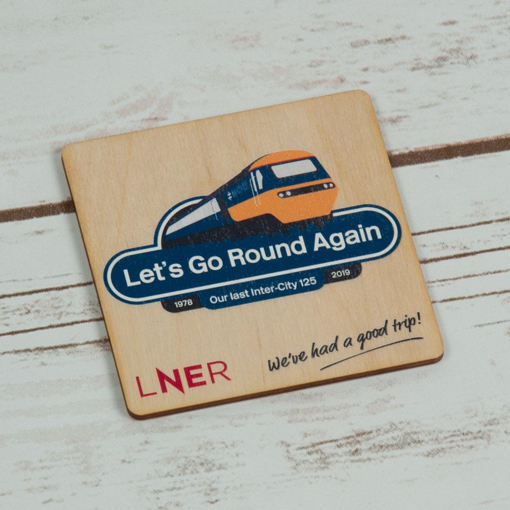 Varnished Wooden Coaster